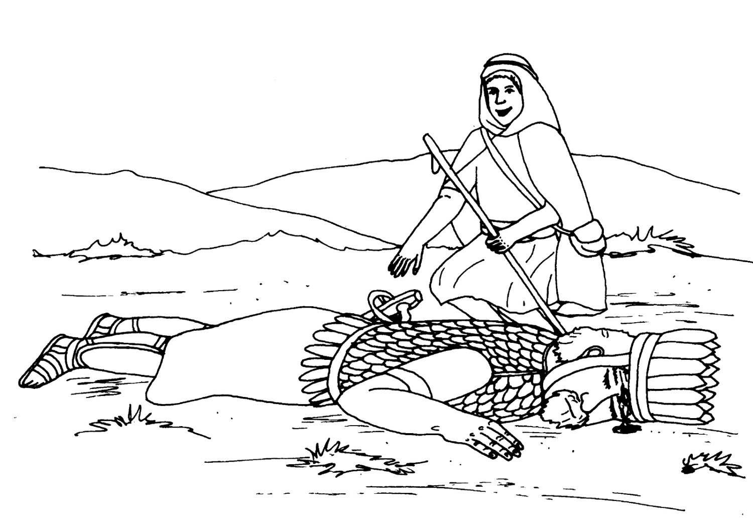 Inspiring David And Goliath Coloring Page 9 Photo