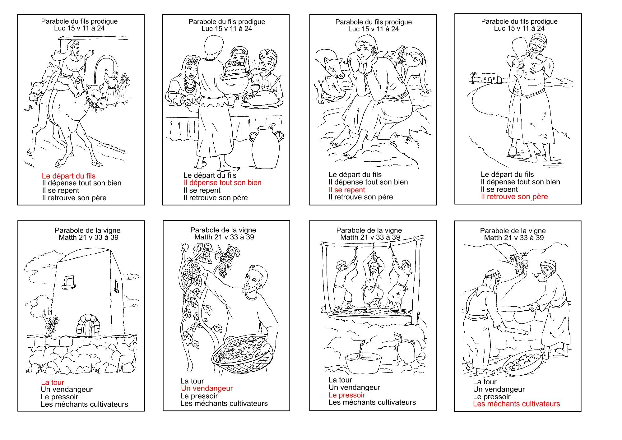 Top jeu de familles sur les parabobles bibliques BJ21