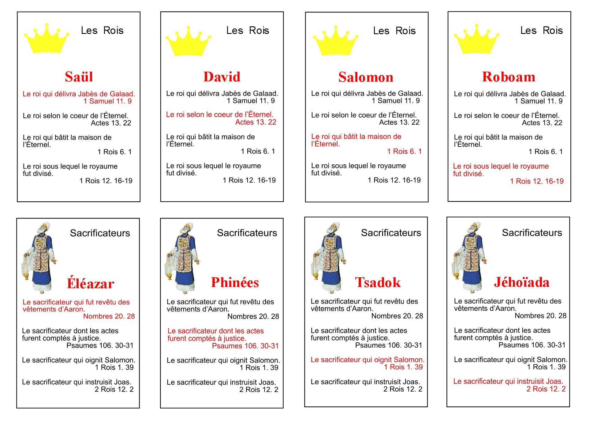 Top jeu de familles sur des personnages bibliques BJ21