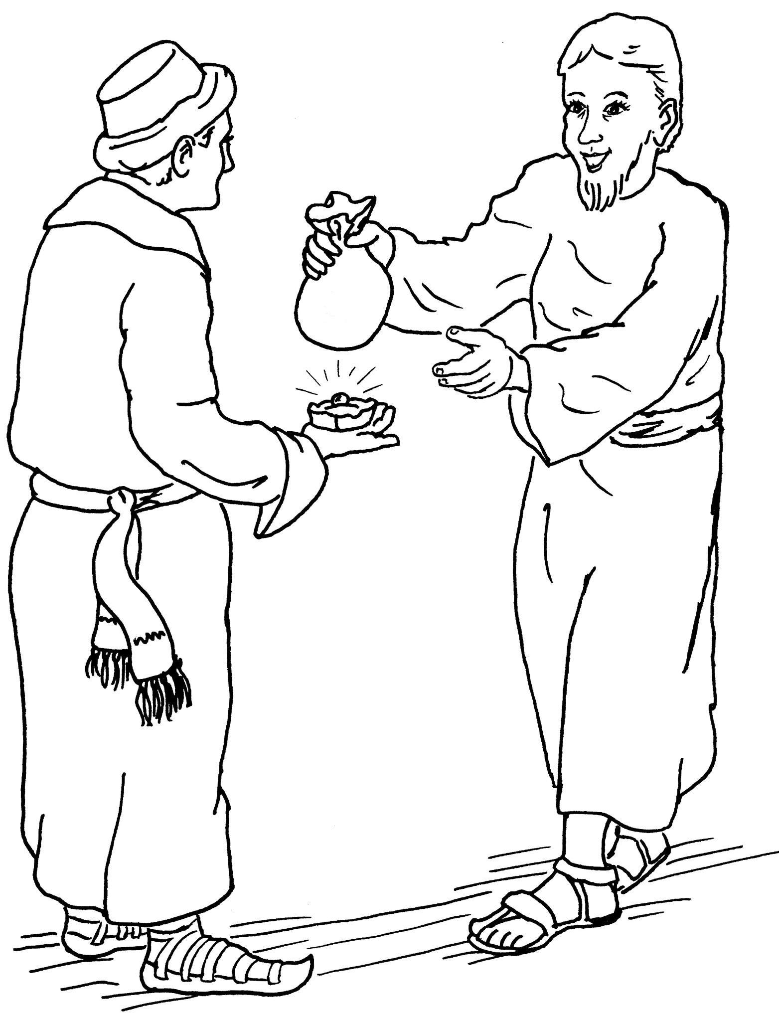 Free Coloring Pages Of Parable Of Talents