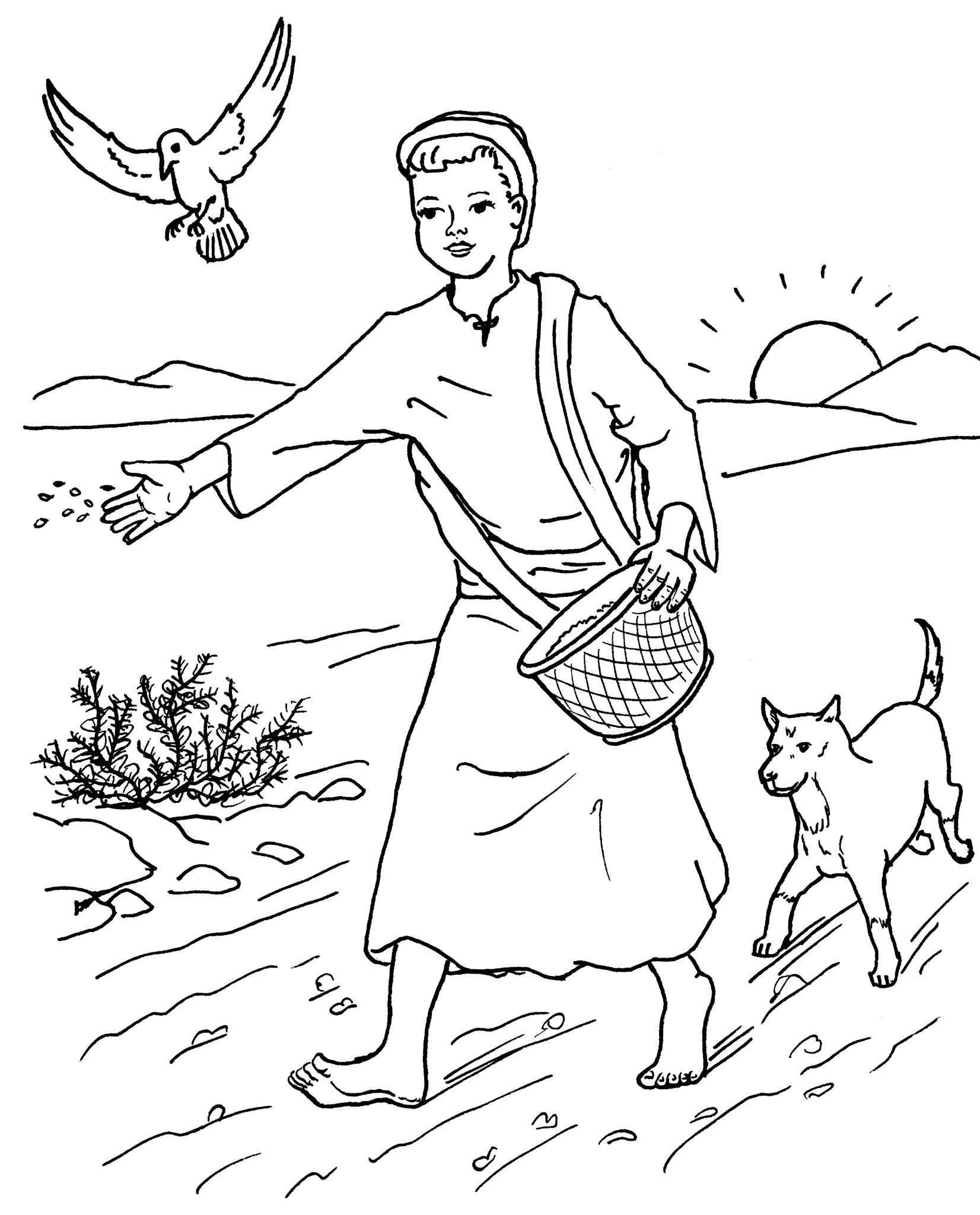 Free parable of the rich fool coloring pages for Parable of the rich fool coloring page