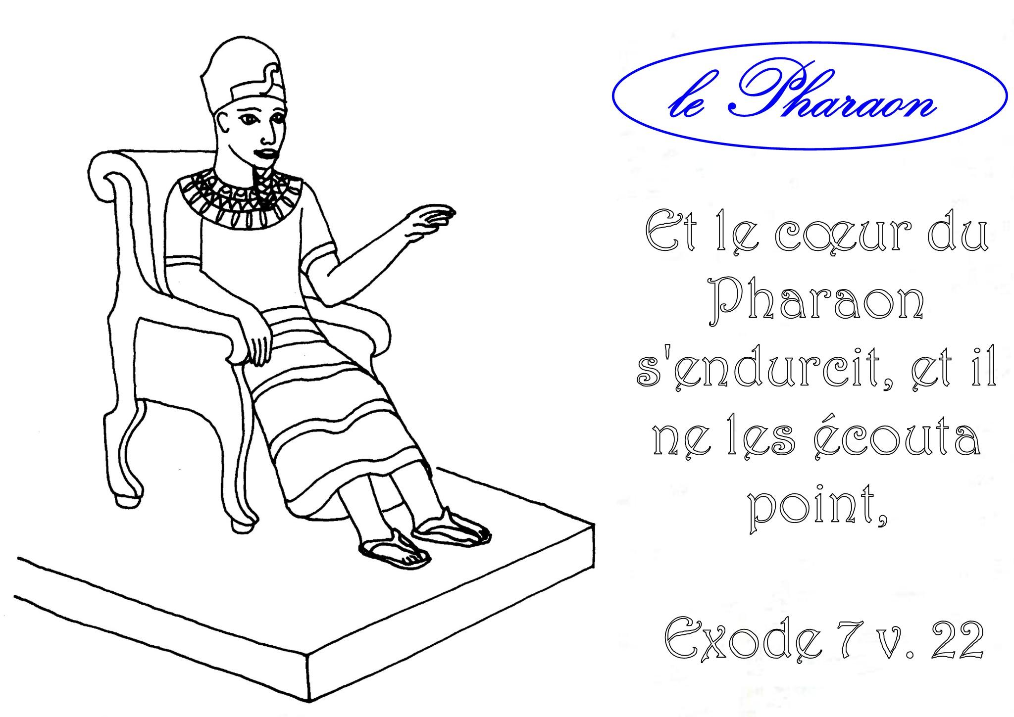 coloriage d un pharaon