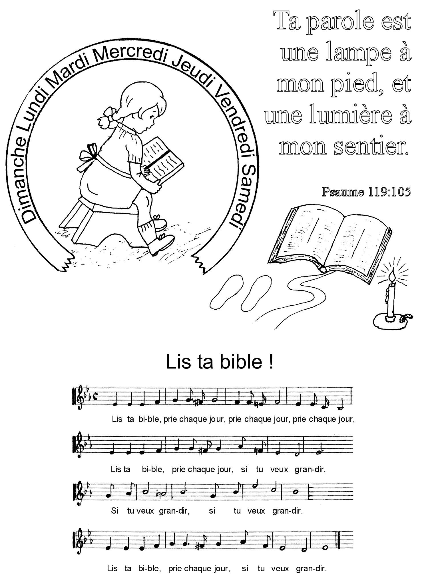 Coloriage un verset biblique