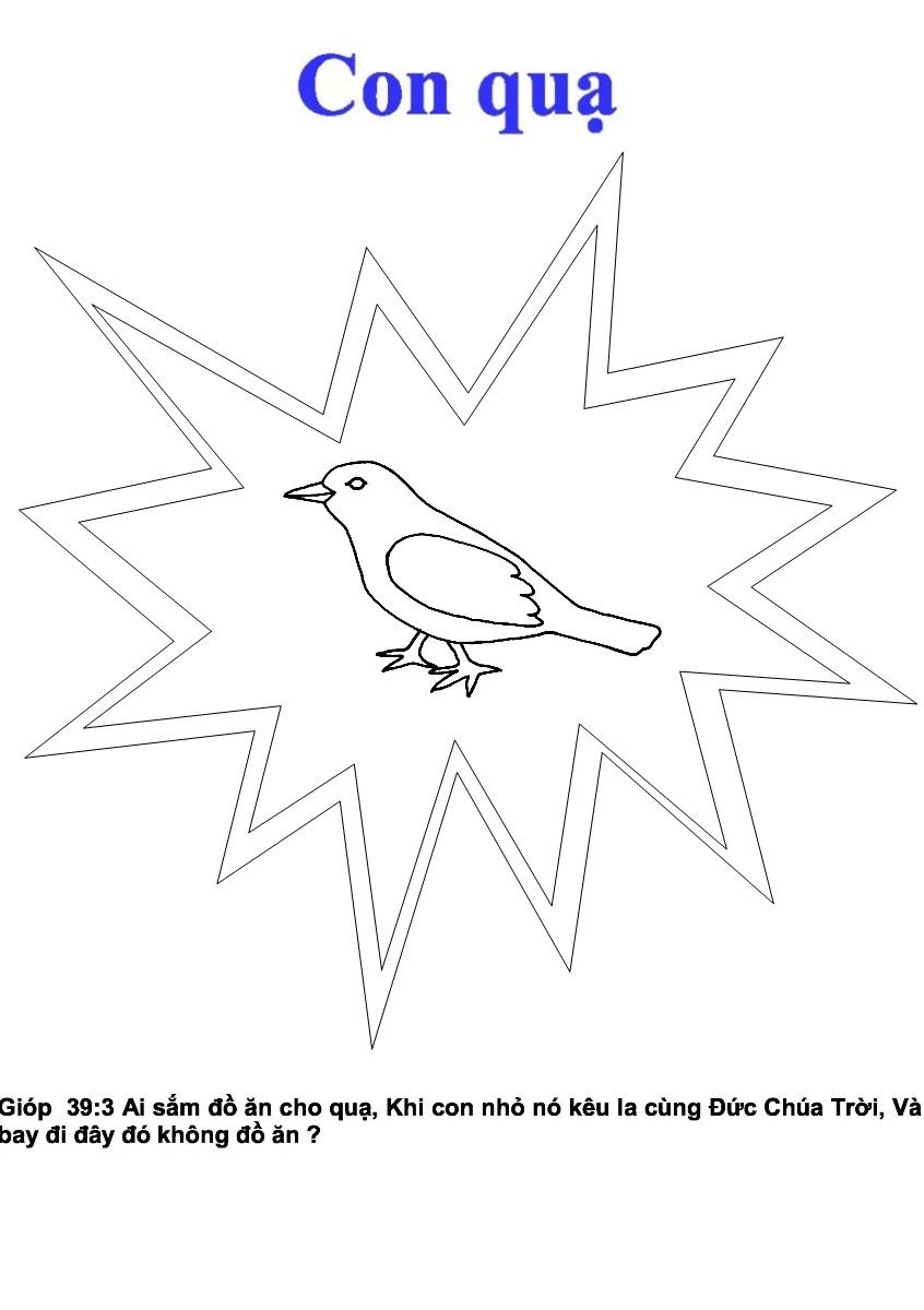 Livret de quelques animaux de la bible en vietnamien - Coloriage corbeau ...
